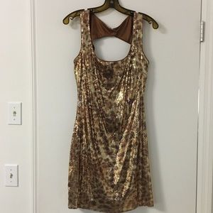 Sexy leopard sequin dress - size 10